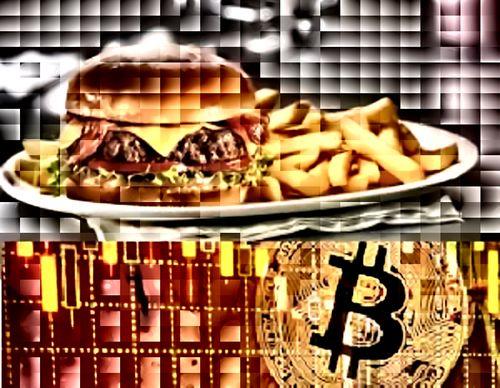 همبرگر و بیت کوین