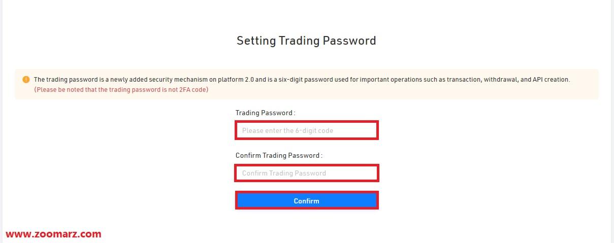 یک رمز عبور که حداقل 6 رقم باشد انتخاب کنید