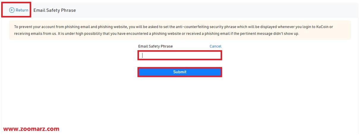 در کادر مشخص شده عبارت امنیتی مورد نظر خود را وارد کنید