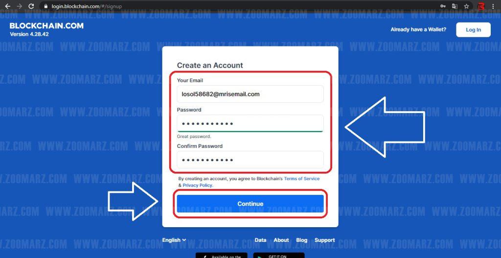 طریقه ثبت نام تحت وب - کیف پول بلاک چین