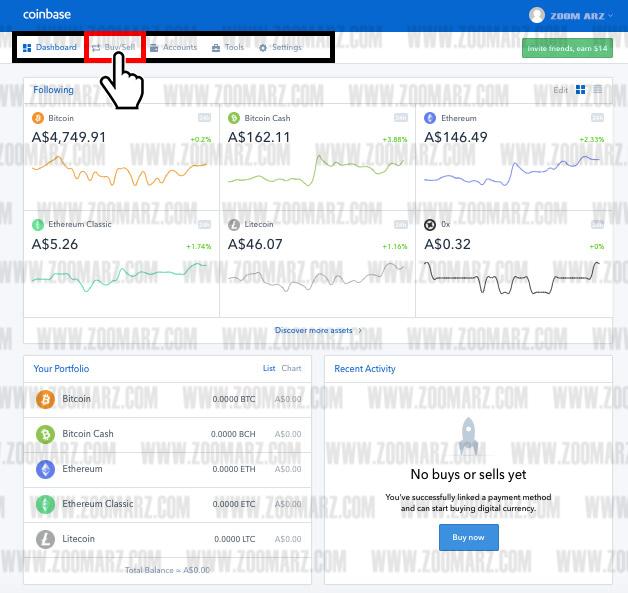 خرید و فروش در صرافی coinbase