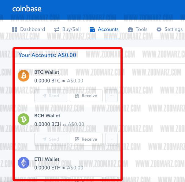 برداشت کوین از صرافی coinbase