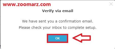 ارسال کد امنیتی به ایمیل