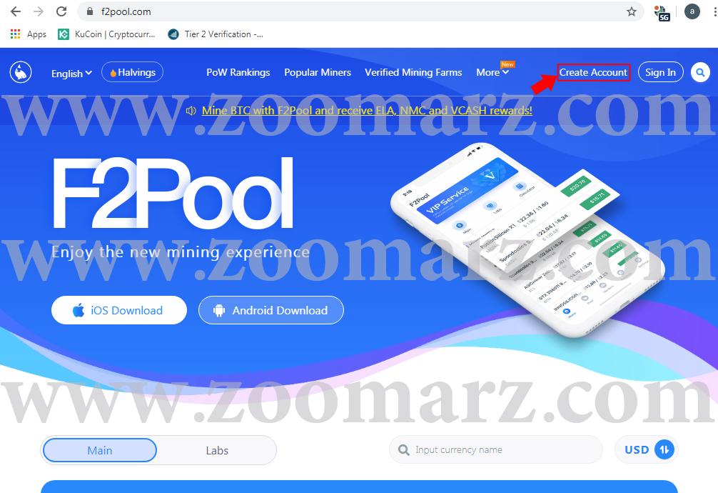 ثبت نام در استخر - ارز دیجیتال F2Pool
