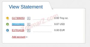 وارد کردن شماره حساب - خرید و فروش دلار پرفکت مانی