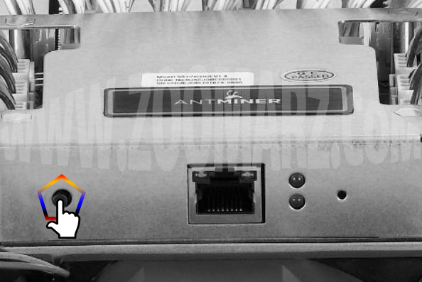 ریستارت دستگاه - راه اندازی دستگاه ماینر Antminer S5