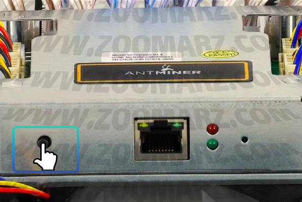 ریست دستگاه - راه اندازی دستگاه ماینر Antminer S7