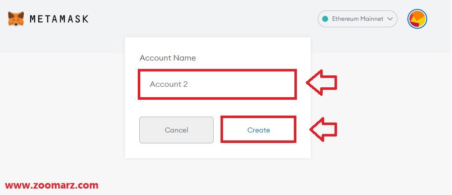 نام حساب خود را انتخاب کنید