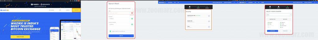 طریقه ایجاد حساب در صرافی WazirX