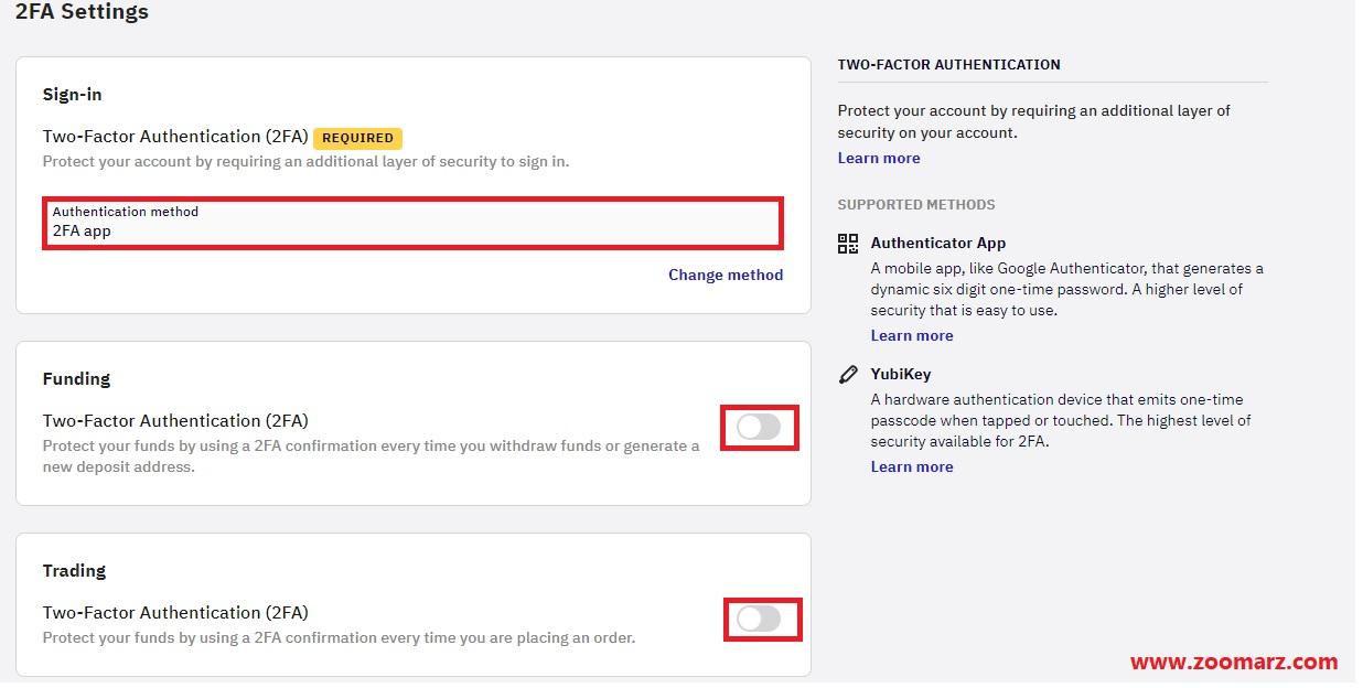 در این صفحه شما مشاهده می کنید که تایید هویت دو عاملی برای شما فعال شده است