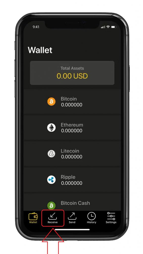 طریقه دریافت ارز دیجیتال در کیف پول Cool Wallet S