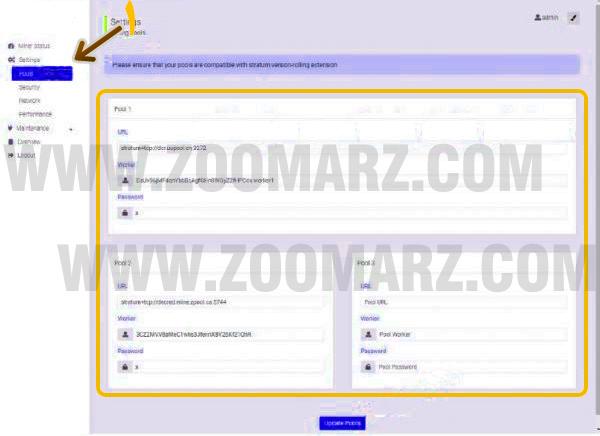 راه اندازی ماینر Innosilicon T2T