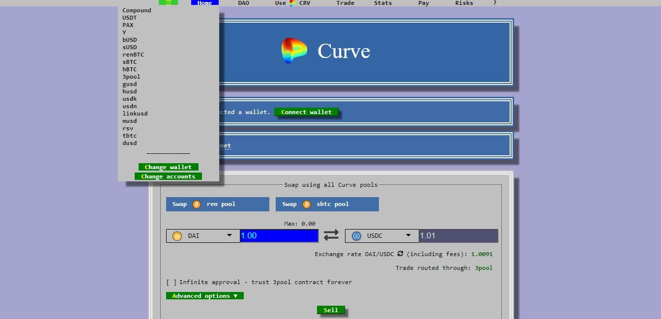 صرافی Curve Finance