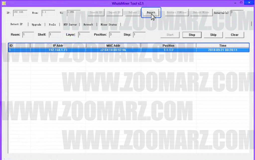 راه اندازی ماینر M21