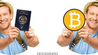 تصویر دریافت پاسپورت آمریکا در عرض 4 هفته با بیت کوین