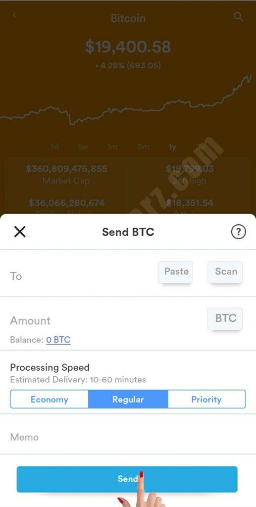 طریقه ارسال کوین و یا دریافت توکن در کیف پول BRD