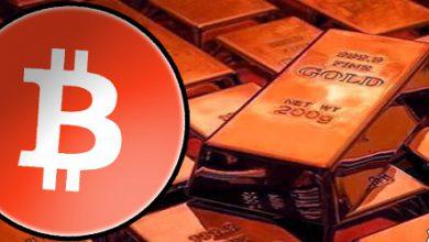 تصویر خروج سرمایه از طلا ، قیمت بیت کوین را بالاتر می برد !