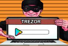 تصویر هشدار کیف پول Trezor به برنامه های تقلبی در فروشگاه گوگل