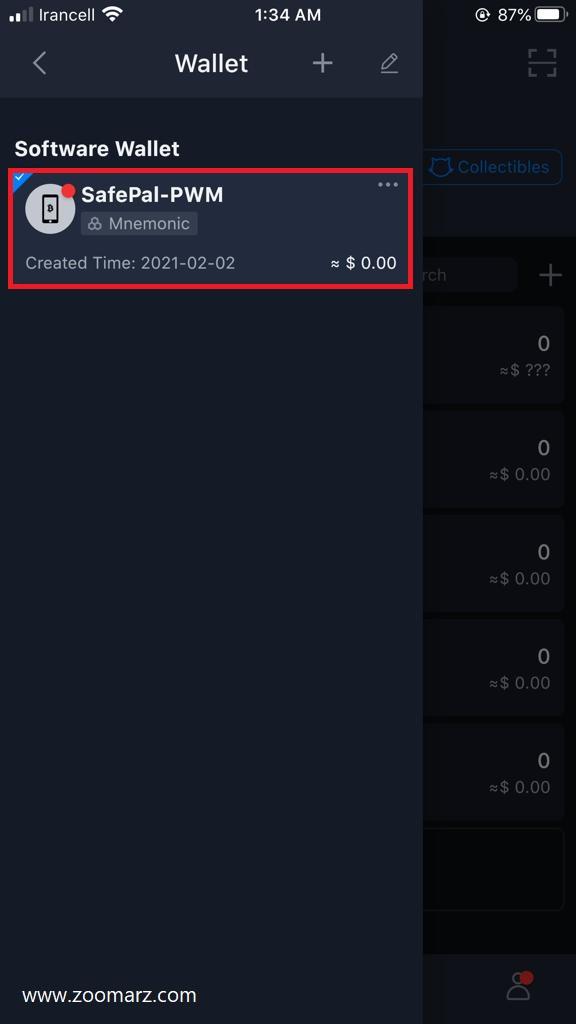 عبارات بازیابی در کیف پول SafePal