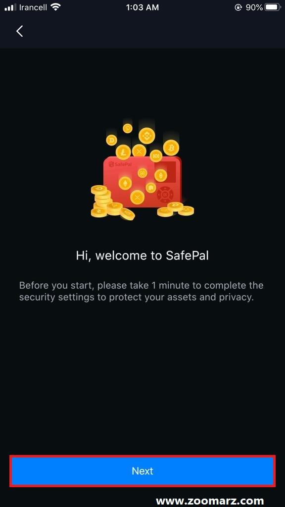 آموزش ساخت حساب در کیف پول SafePal