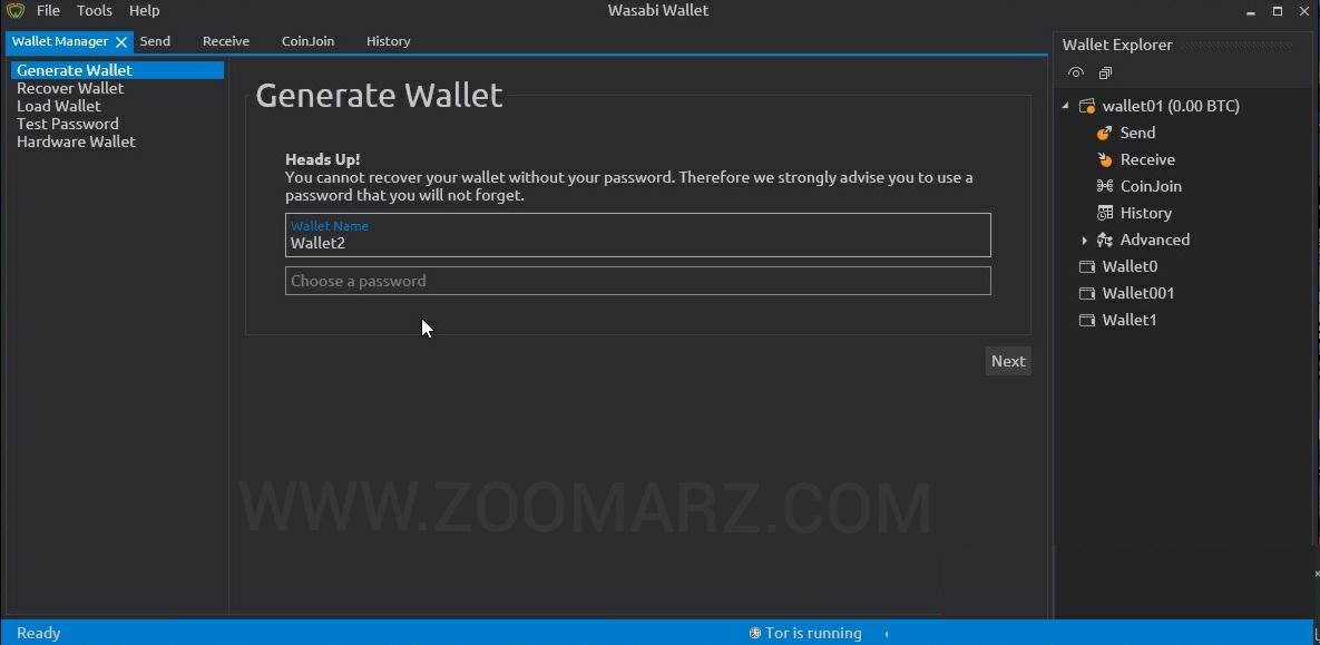 چگونه کیف پول واسابی را نصب و راه اندازی کنیم؟