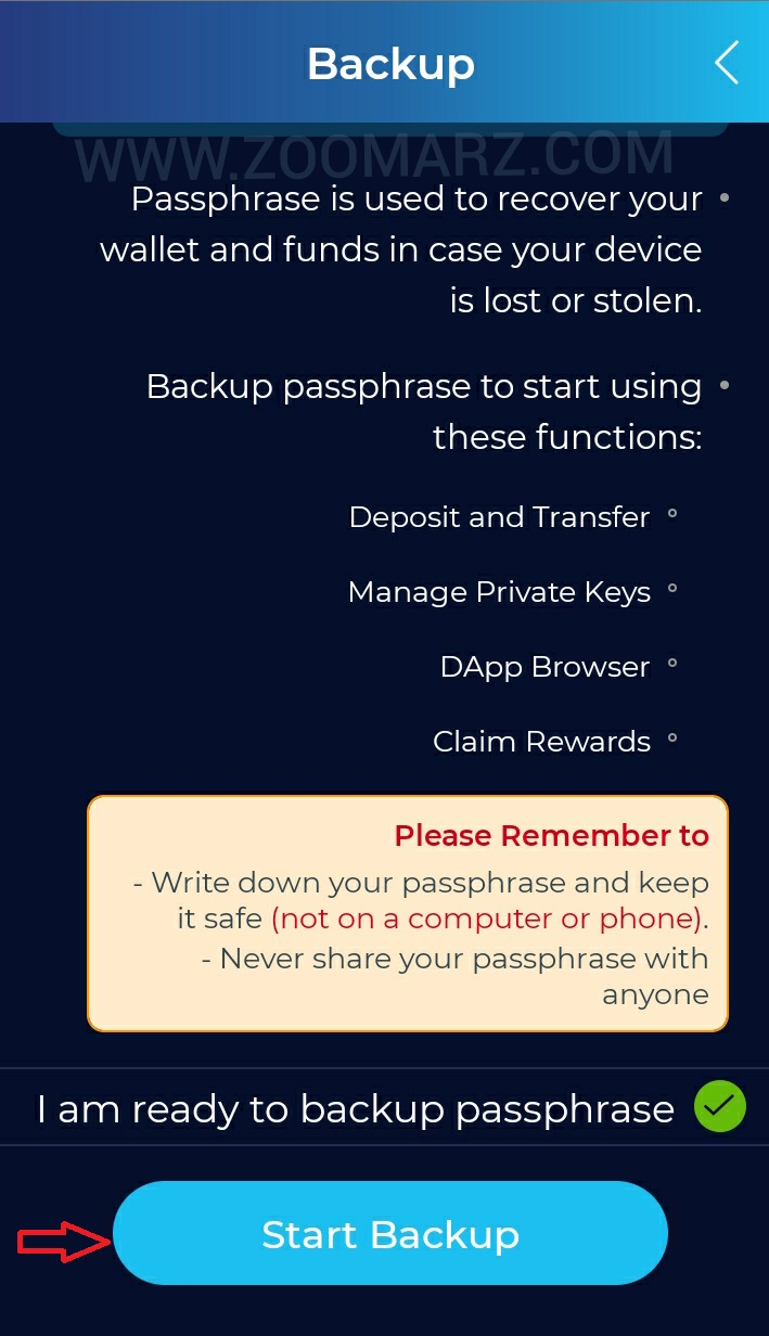 آموزش گام به گام ثبت نام در کیف پول infinito wallet