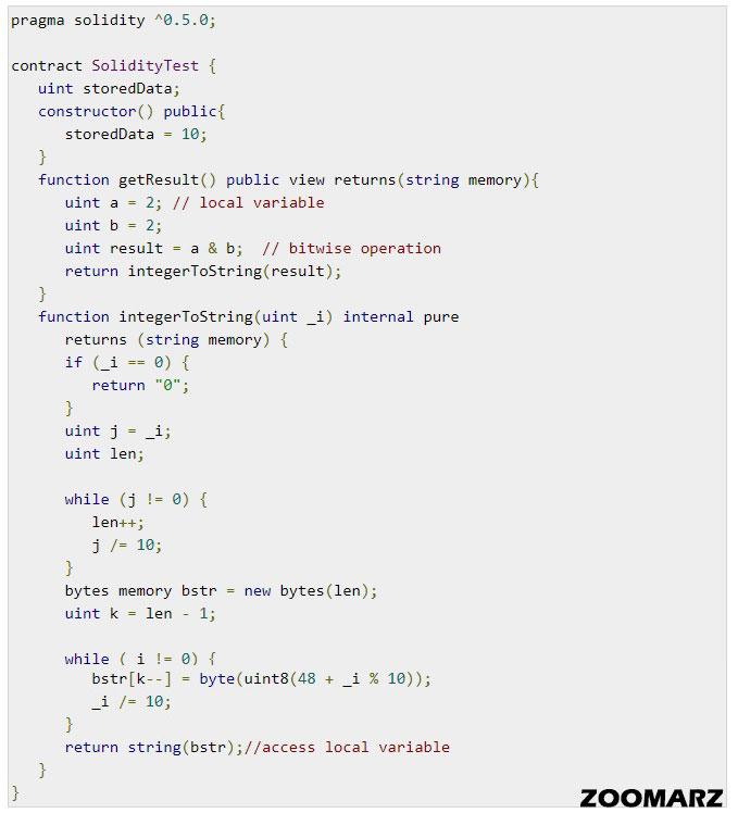 پیاده سازی عملگر Bitwise در سالیدیتی