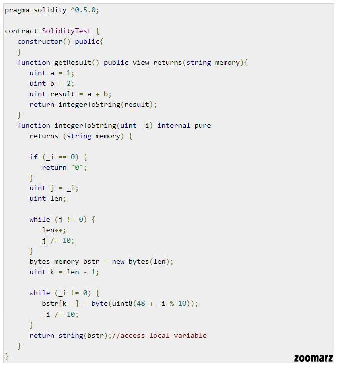 چگونگی کارکرد رشته string در Solidity