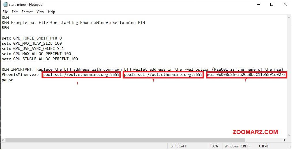 4.در این قسمت فایل مورد نظر در Notepad باز کنید