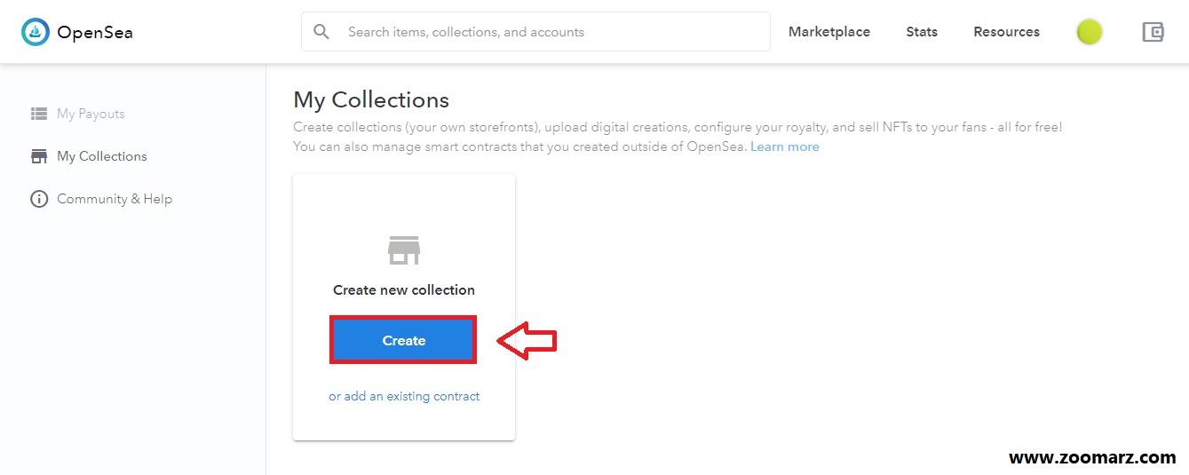 3.گزینه ی my collections را انتخاب کنید