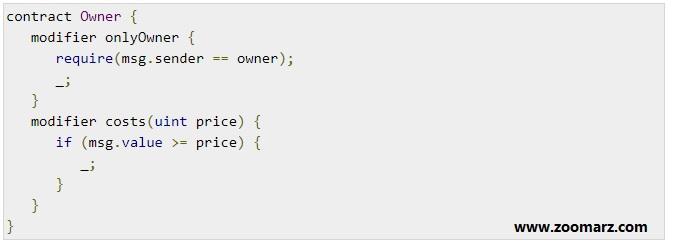 اصلاح کننده یا modifier با پارامتر یا بدون آن