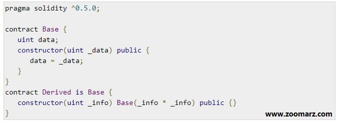 راه اندازی constructor پایه
