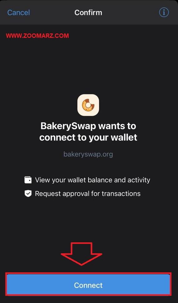 """گزینه """"Connect"""" را بر روی کیف پول خود انتخاب کنید"""